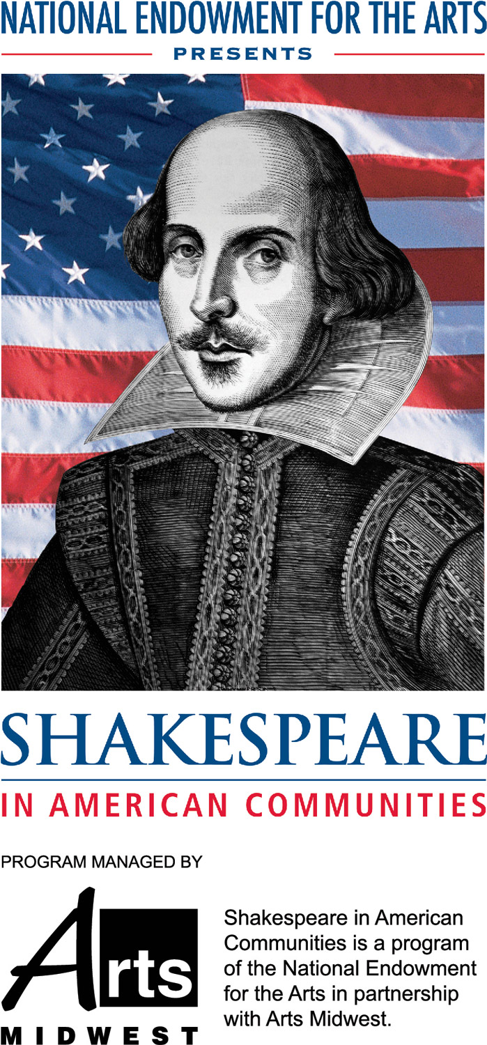 Shakespeare in American Communities, a program of the National Endowment for the Arts in partnership with Arts Midwest logo - Links to website